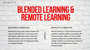 Blended & Remote Learning Descriptions